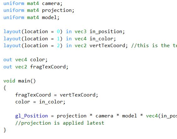 GLSL shader highlighting