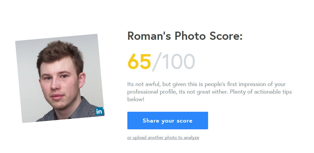 Do you want to know how good is your LinkedIn profile photo?