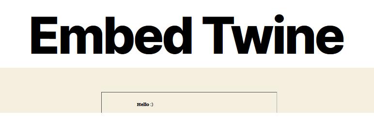 Embed Twine WP plugin