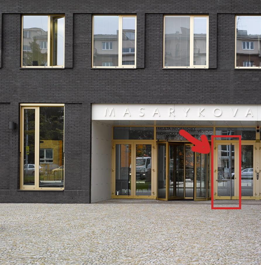 BadUX Door at Masaryk University